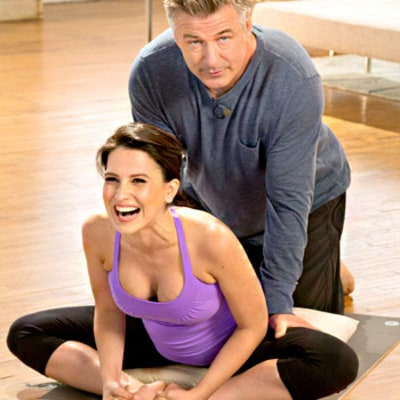 Alec Baldwin Costars in Hilaria Baldwin's Prenatal Yoga DVD: See the Awkwardness!