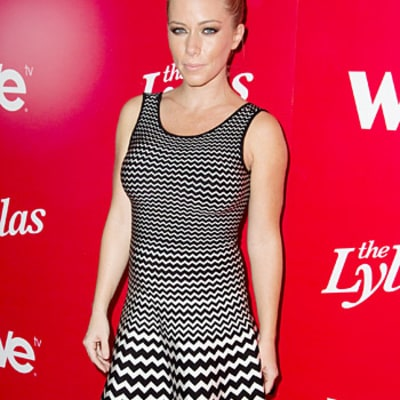 Kendra Wilkinson Debuts Her Baby Bump in Zig Zag Dress: Picture