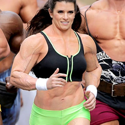 Danica Patrick Flexes Oversized Muscles In Bodybuilder Suit For Super Bowl Ad