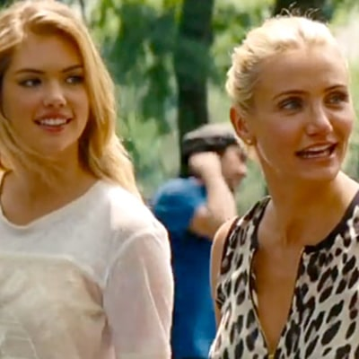 Cameron Diaz, Leslie Mann Ogle Over Kate Upton's Bikini Body in The Other Woman Trailer