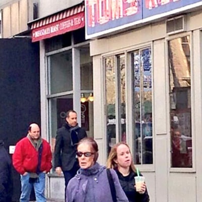 Jerry Seinfeld, Jason Alexander Visit Famous Seinfeld Coffee Shop Tom's Restaurant: Picture