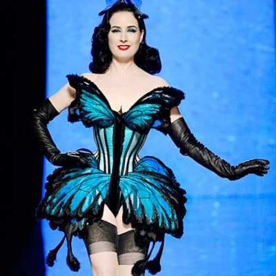 Write a Fashion Police Caption for Dita Von Teese