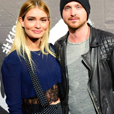 Aaron Paul and Lauren Parsekian Step Out For Super Bowl Parties