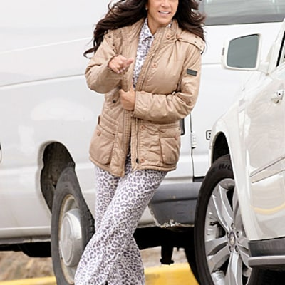 Teresa Giudice Steps Out in Leopard-Print Pajamas After Pleading Guilty to Fraud Charges