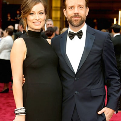 Jason Sudeikis Caught Laughing on Oscars Stage Over Inside Joke With Olivia Wilde, Shares GIF
