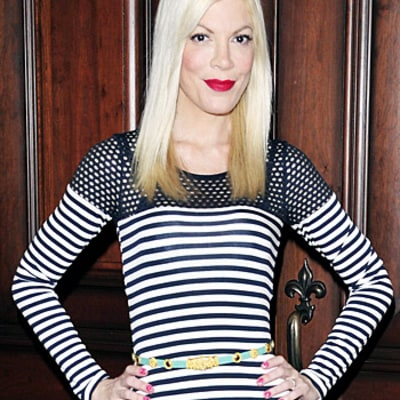 Tori Spelling Shows Off Super-Skinny Frame in Form-Fitting Dress: Picture