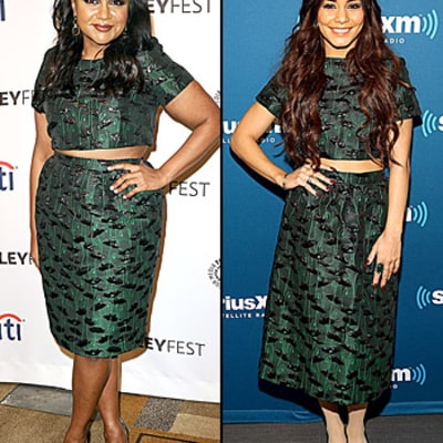 Mindy Kaling vs. Vanessa Hudgens: Who Wore the Crop Top Best?