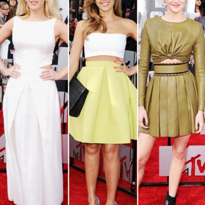 MTV Movie Awards Red Carpet Trend: Stars Show Skin in Crop Tops and Cutouts