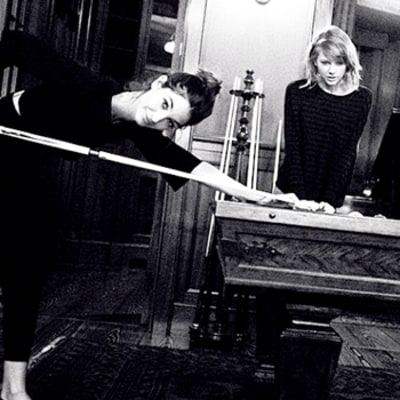 Taylor Swift Gets Schooled By Lily Aldridge Playing Pool: Cute Pictures