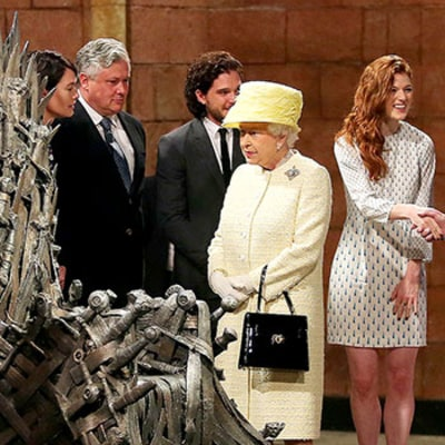 Queen Elizabeth Visits Game of Thrones Set, Meets Cast, Eyes Iron Throne: Pictures