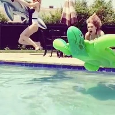 Jaime King Posts Hilarious Video With Taylor Swift On Inflatable Pool Toys