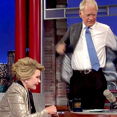 Joan Rivers, David Letterman Recreate CNN Interview on the Late Show: Funny Walk Out Video