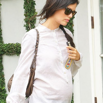 Rachel Bilson Hits Baby Boutique, Shows off Bump while Shopping for Car Seat, Browsing Girl Items