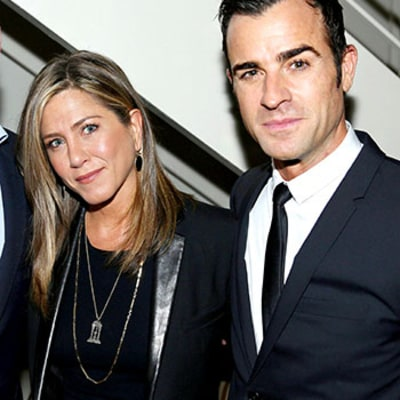 Jennifer Aniston Joins Fiance Justin Theroux at Intimate, Star-Studded Details Dinner: Photos