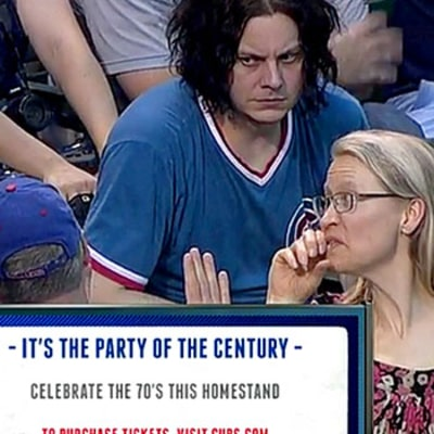 Jack White Did Not Look Happy at the Chicago Cubs Game: See the Viral Picture