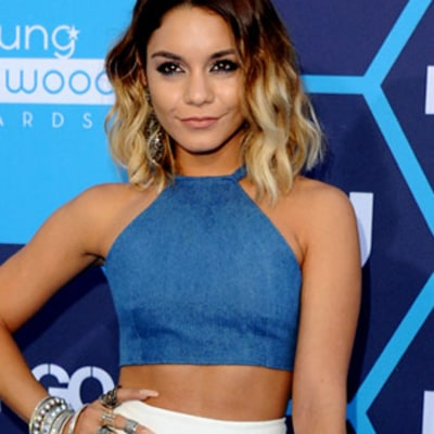 Vanessa Hudgens Shows Off Her Skinny Figure, Flashes Abs in 2014 Young Hollywood Awards Outfit
