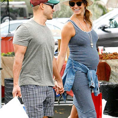 Stacy Keibler Shows Baby Bump While Grocery Shopping With Husband Jared Pobre: Picture