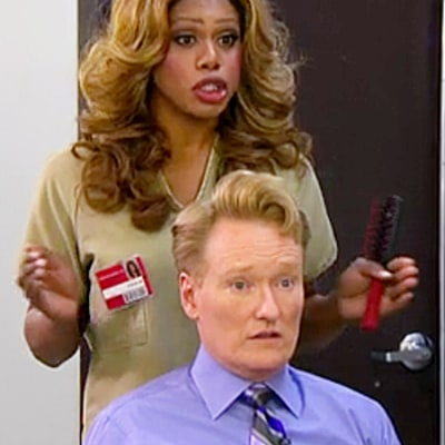 Orange Is the New Black Cast on Conan: Laverne Cox Does Conan's Hair, Uzo Aduba Teaches How to Make