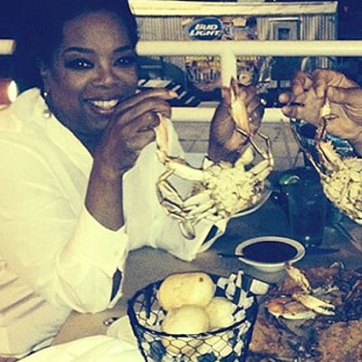 Oprah Winfrey, Partner Stedman Graham Go on Dinner Date; Enjoy Crabs Together: Picture