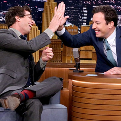 Andy Samberg, Jimmy Fallon Burst Out Laughing During 5-Second Movie Summaries Game: Watch the Video