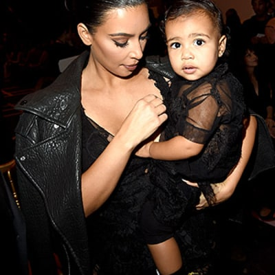 North West Matches Mom Kim Kardashian in a Sheer Black Outfit to the Givenchy Runway Show: See the Pictures
