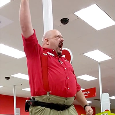 Target Manager Gives Rousing
