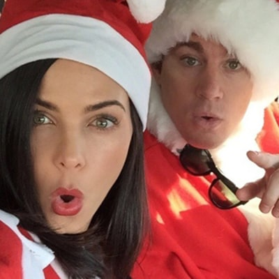 Channing, Jenna Dewan Tatum Dress Like Santa For Holiday Message to Fans: Pictures