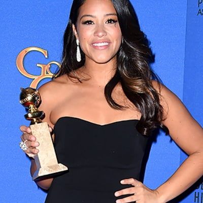 Gina Rodriguez Gets Emotional After Surprise Golden Globes 2015 Best Actress Win for Jane the Virgin