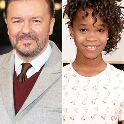 Ricky Gervais Flubs Quvenzhane Wallis' Name at the Golden Globes, Jokes About Pulling a John Travolta