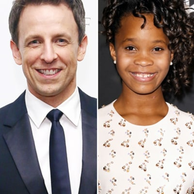Seth Meyers: Golden Globes 2015 Tablemate Quvenzhané Wallis
