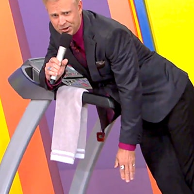 Price Is Right Announcer George Gray Wipes Out on Treadmill: Watch the Video