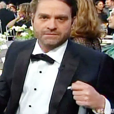 Zach Galifianakis Looks Unrecognizable, Super Skinny at 2015 SAG Awards