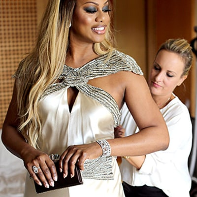 Laverne Cox's Vintage-Inspired SAG Awards Dress: Go Behind the Scenes of Her Red Carpet Prep!