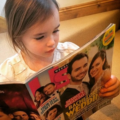 Trista Sutter's Daughter Blakesley Reads Us Weekly, Looks in Awe of Desiree Hartsock, Chris Siegfried's Wedding Pics!