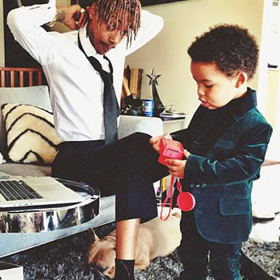 Wiz Khalifa Brings Adorable Son Sebastian as His Date to 2015 Grammys: Watch!