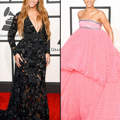 Beyonce, Rihanna Both Arrive Last Minute to 2015 Grammys, Look Equally Stunning -- See Who Stole the Red Carpet!