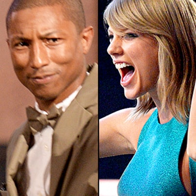 Pharrell Williams Not Impressed With Taylor Swift's 2015 Grammys Dancing