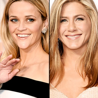 Reese Witherspoon Grabs Jennifer Aniston's Butt at Oscars 2015: Watch Jen's Reaction!