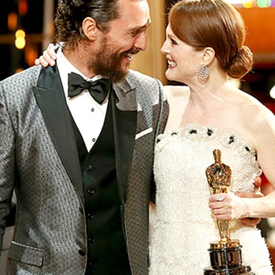 Oscars 2015: Candid Moments From Backstage and in the Audience