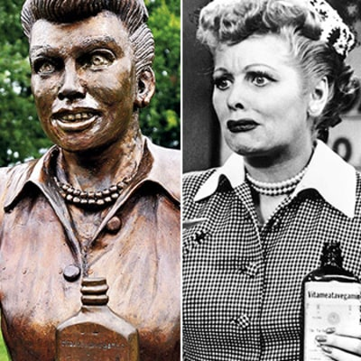 Scary Lucille Ball Statue Sculptor Apologizes for