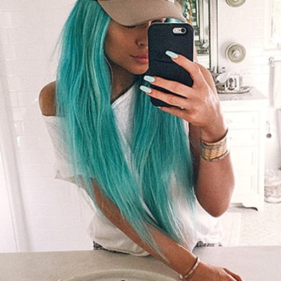 Kylie Jenner Returns to Aqua Blue Hair, Embraces the Mermaid Hair Trend: See the Photo!
