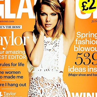 Taylor Swift Strikes a Pose in a White Cutout Dress on Glamour UK Cover: See the Fierce Shot