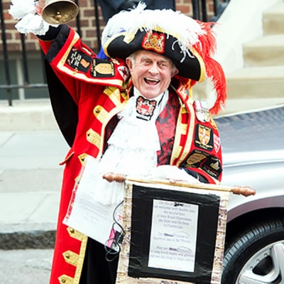 Town Crier Tony Appleton Announces Birth of Princess: