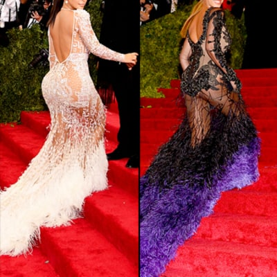 Kim Kardashian Channels Beyonce's 2012 Look at Met Gala 2015