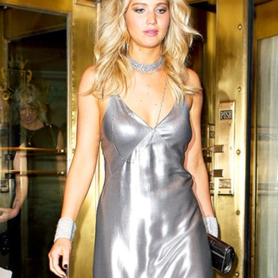 Jennifer Lawrence Looks So Sexy in Slinky Silver Gown at Met Gala 2015 Afterparty: Photos