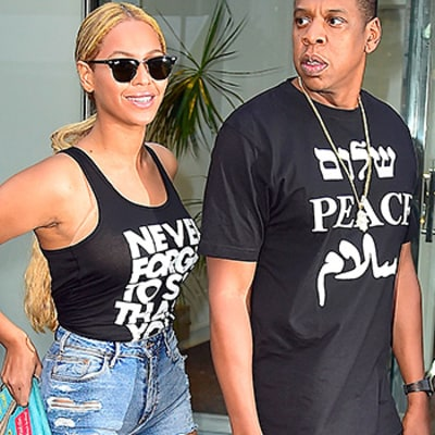 Beyonce, Jay Z Send Out Good Vibes Via Their Couple Street Style: See the Photos!