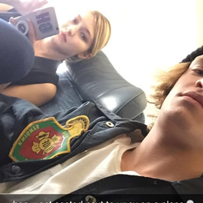 Gigi Hadid, Ex-Boyfriend Cody Simpson Get Seated Next to Each Other on a Plane -- See the Hilarious Snap