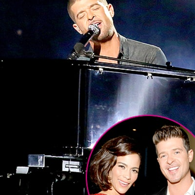 Robin Thicke Feels Just as Awkward About Those Paula Patton Dedications as You Did