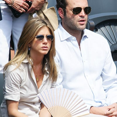 Jennifer Aniston Chats With Ex Vince Vaughn After Her Secret Wedding to Justin Theroux: Pic, Details