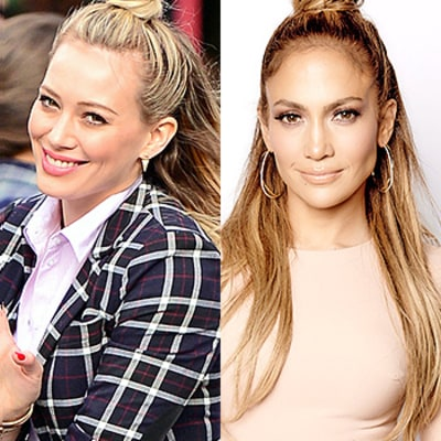 Hilary Duff, Jennifer Lopez, More Celebs Love a Hun: Master the Half Bun Hairstyle